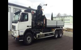 Kontejnerová doprava nákladními vozidly VOLVO, MAN