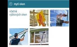 Mytí oken i na výškových budovách