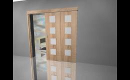 Výběr posuvných dveří prosklených, plných, částečně prosklených