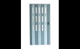 Shrnovací dveře koženkové pro úsporu místa v interiéru