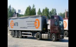 Kamionová přeprava paliv, stavebních a sypkých materiálů