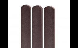 Plastové plotovky s kulatým i rovným zakončením