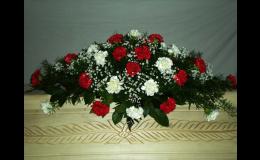 Smuteční dekorace na rakvi, Marie - pohřební služba Opava