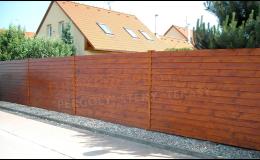Dřevěné ploty různých typů