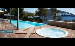Venkovní zapuštěné bazény, vířivé vany Desjoyaux