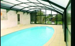 Podchozí zastřešení bazénu, Bazény Desjoyaux, s.r.o.