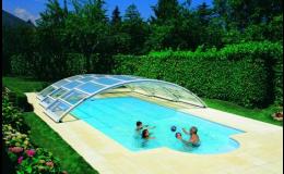 Polovysoké bazénové zastřešení Desjoyaux