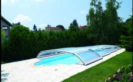 Nízké bazénové zastřešení Desjoyaux
