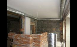 Vzduchotechnika včetně instalace a stavebních prací
