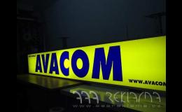 Svíticí reklama na fasádu - výroba, dodání, montáž