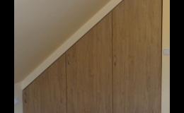 Atypické vestavěné skříně, Truhlářství Radim Sladký