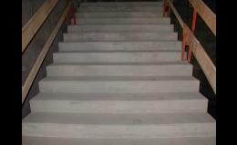 Schody z monolitického litého betonu, SPING STAV s.r.o. Praha