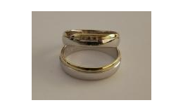 Snubní prsteny bíložluté zlato, Zlatnická dílna v Ivančicích