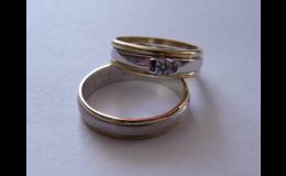 Zlaté snubní prsteny se zirkonem, Zlatnictví Ivančice u Brna