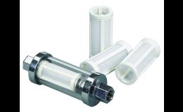 Plastové in-line palivové filtry do palivového potrubí