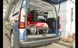 Elektrické vozíky SELVO lze lehce složit i pro převoz autem