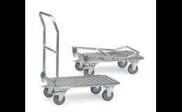 Plošinové vozíky, rudly a manipulační technika do průmyslových i jiných provozů