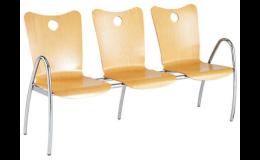 Židle a lavice do čekáren pro pacienty od firmy Enprag s.r.o.