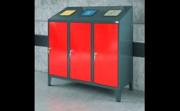 Interiérové a exteriérové odpadkové koše, popelnice i kontejnery