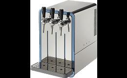 Praktické zařízení s pípou pro výdej čerstvé a chlazené vody