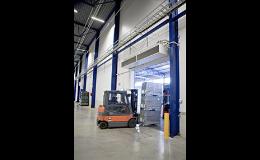 Průmyslová clona Thermozone pro velké vchody a dveře, SEFEN spol. s r.o. Frýdek-Místek