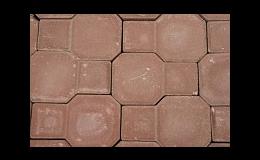 Červená betonová dlažba k dláždění chodníků a parkovacích ploch, Jindřichohradecko