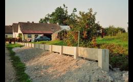 Betonové plotové podezdívky - betonárna Jindřichův Hradec