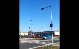 Silniční stožáry veřejného osvětlení vyrábí společnost AMAKO, spol. s r.o.