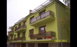 Rekonstrukce, opravy fasád a balkonů u rodinných i bytových domů