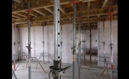 Monolitické stropy z železobetonových desek se vyznačují pevností a požární odolností