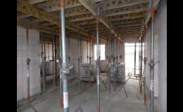 Železobetonové monolitické stropy jsou vhodné i pro nepravidelné půdorysy