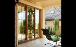Balkonové, terasové hliníkové dveře pro rodinné domy od výrobce OKNOPLAST