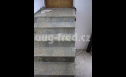 Schody a podlahy z kamene vyrábí společnost AUG-FRED