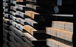 Hutní materiál ve skladech Moravských Budějovicích, Třebíči a Táboře