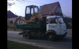 Přepravu stavebních a zemědělských strojů zajišťuje společnost Autodoprava Bohdálek Znojmo