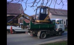 Odvoz materiálu a suti zajišťuje společnost Autodoprava Bohdálek ze Znojma