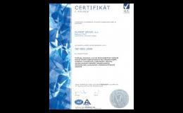 ELMONT GROUP, a.s., Brno vlastní certifikát ČSN EN ISO 9001:2008