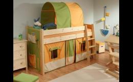 Společnost NÁBYTEK LINEA, s.r.o. prodává nábytek do dětských pokojů.