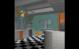Návrhy interiérů ve formě 3D vizualizace vytváří ateliér DISprojekt, s.r.o., Třebíč