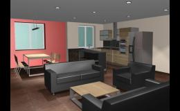 Návrhy interiérů rodinných domů, bytů i veřejných objektů zajišťuje společnost DISprojekt, s.r.o. z Třebíče