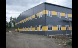 Průmyslové montované haly - společnost ST-mont Dačice, s.r.o.