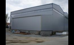 Výroba a dodání montovaných hal podle požadavků investora