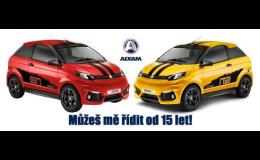 Automobily AIXAM a MEGA pro 15leté i seniory