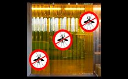 Speciální plastové závěsy odpuzující hmyz