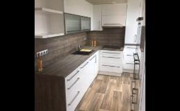 3D návrh kuchyní, kvalitní materiály na kuchyňská dvířka, Brněnsko