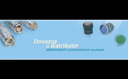 Značkové elektronické součástky, pneumatické prvky od společnosti Mechatronic Praha