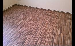 Odborná pokládka všech typů podlahovin - vinylové, laminátové, PVC, dřevěné podlahy a koberce