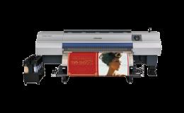 Velkoplošná sublimačními tiskárna Mimaki typ TS500-1800 tiskne pomocí tranferového papíru