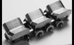 Dopravní řetězy jsou součástí transportních a montážních pásů a všech typů dopravníků