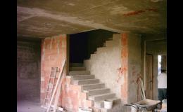 Realizace hrubé stavby, stavební úpravy - jižní Morava